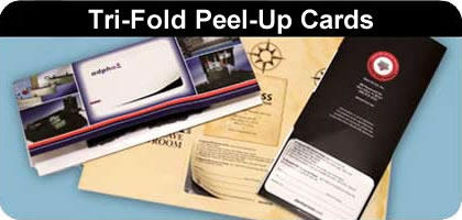 addvalue2print peel up cards trifold mailer
